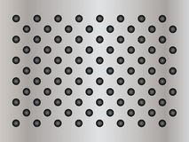 Gray metal steel or aluminum texture background Stock Photography