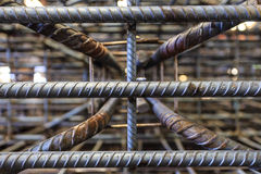 Gray metal steel rod for construction , bangkok in Thailand Stock Image