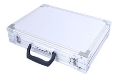 Gray metal suitcase Stock Image