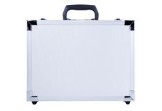 Gray metal suitcase Royalty Free Stock Images