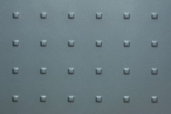 Gray metal surface with Square bumps Stock Photography
