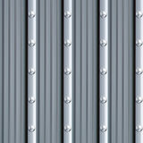 Gray metal texture with silver rivets Royalty Free Stock Photo