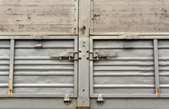 Gray metal truck board. Royalty Free Stock Image