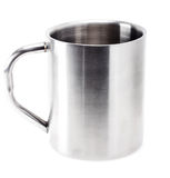 Gray Metallic Cup On White Background Royalty Free Stock Images