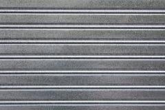Gray metallic door Royalty Free Stock Image
