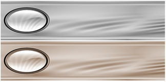 Gray Metallic Headers Stock Image