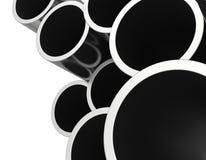 Gray metallic pipes Royalty Free Stock Image