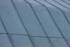 Gray metallic texture of zinc coating on the roof. Gray metal background of zinc coating on the roof royalty free stock photos