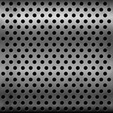 Gray metallic vector plate with perforation Royalty Free Stock Image