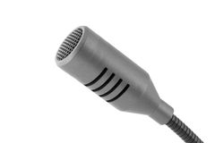 Gray microphone Royalty Free Stock Images