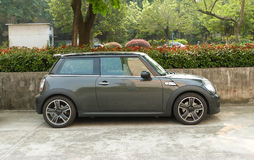 Gray mini cooper Royalty Free Stock Photo