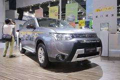 Gray mitsubishi outlander car Royalty Free Stock Photography