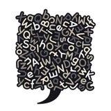 Gray Mixed Alphabet Speech Bubble Arkivfoton