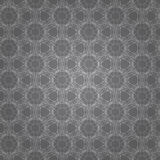 Gray modern Geometric background. White patterned net lace on gray background Stock Photos