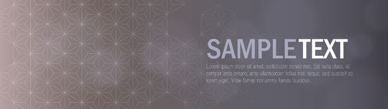 Gray Modern Geometric Header. Vector header with geometric pattern that you can use as banners for your website, layout and any other designs Stock Images
