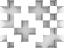 Gray monochrome cubic background Royalty Free Stock Photos