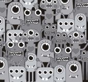 Gray monsters Stock Photography