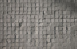 Gray mosaic tiles Royalty Free Stock Image