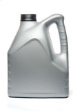 Gray Motor Oil Bottle Stock Image