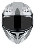 Gray motorcycle helmet Royalty Free Stock Image