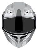 Gray motorcycle helmet Royalty Free Stock Image