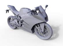 Gray motorcycle illustration Stock Image