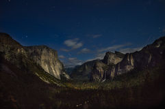 Gray Mountain Under Blue Sky during Night Time Royalty Free Stock Photos