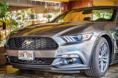 Gray Mustang sportscar Royalty Free Stock Images