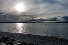 Gray Muted Sun fotografia stock libera da diritti