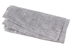 Gray napkin on white background Royalty Free Stock Photography