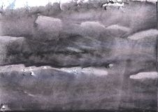 Gray nebulous wash drawing painting. Hand-drawn abstract watercolor texture. Used contrasting and transient colors Stock Photos