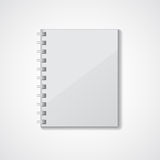Gray notebook Stock Image