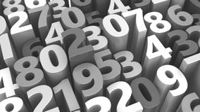 Gray numbers background Stock Photo