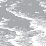 Gray_ocean_tide Royalty Free Stock Photography