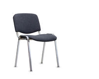The gray office chair. Isolated Stock Images