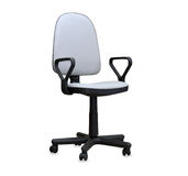 The gray office chair. Isolated Royalty Free Stock Photos