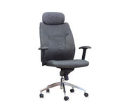 The gray office chair.  Royalty Free Stock Photography