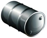 A gray oil barrel. Illustration of a gray oil barrel on a white background vector illustration