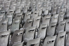 Gray and old chairs Stock Photography