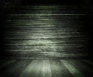 Gray Old Dark Wooden Room Background Stock Images