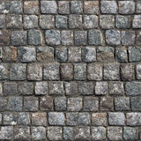 Gray Old Stone Road Surface -Seamless Texture. Stock Photo
