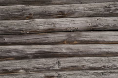 Gray old wooden boards with light spots are horizontally Stock Photo