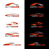 Gray orange car logo in black and white background Royalty Free Stock Image