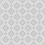 Gray ornate pattern. Seamless vector Royalty Free Stock Image