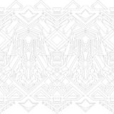Gray outline pattern Royalty Free Stock Image