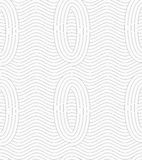 Gray ovals merging with continues lines Royalty Free Stock Photos