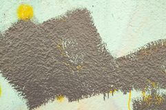 Gray paint brush stripe on a gray wall - background. Texture royalty free stock photo
