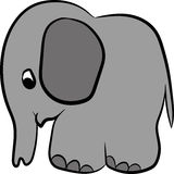 Gray painted elephant. Stock Image