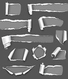 Gray paper. Collection of gray paper. Vector illustration Stock Photo