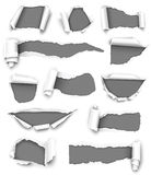 Gray paper. Collection of gray paper  on white background. Vector illustration Stock Photography